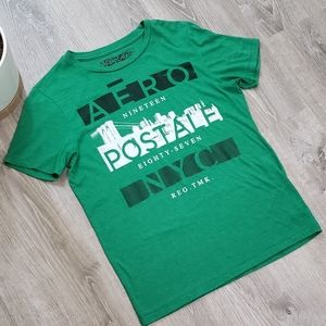 Aeropostale Green Men's Graphic Short Sleeve Shirt